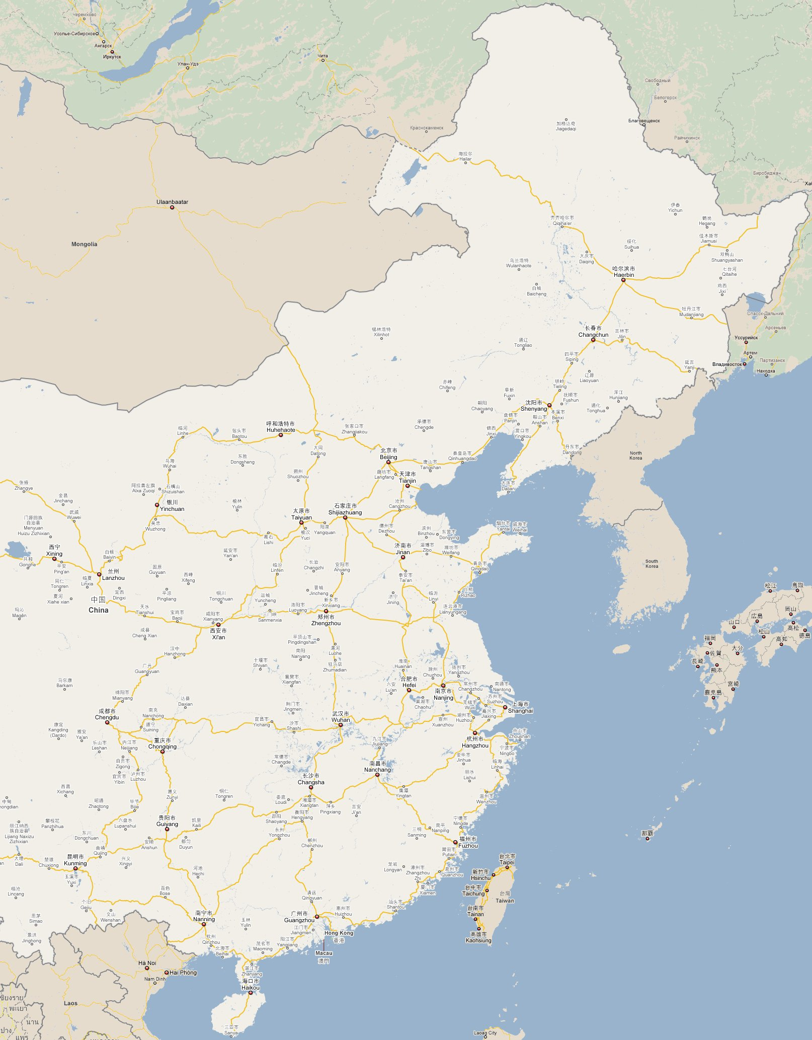 Footiemapcom China Map Of Top Tier Chinese Football - Changchun map