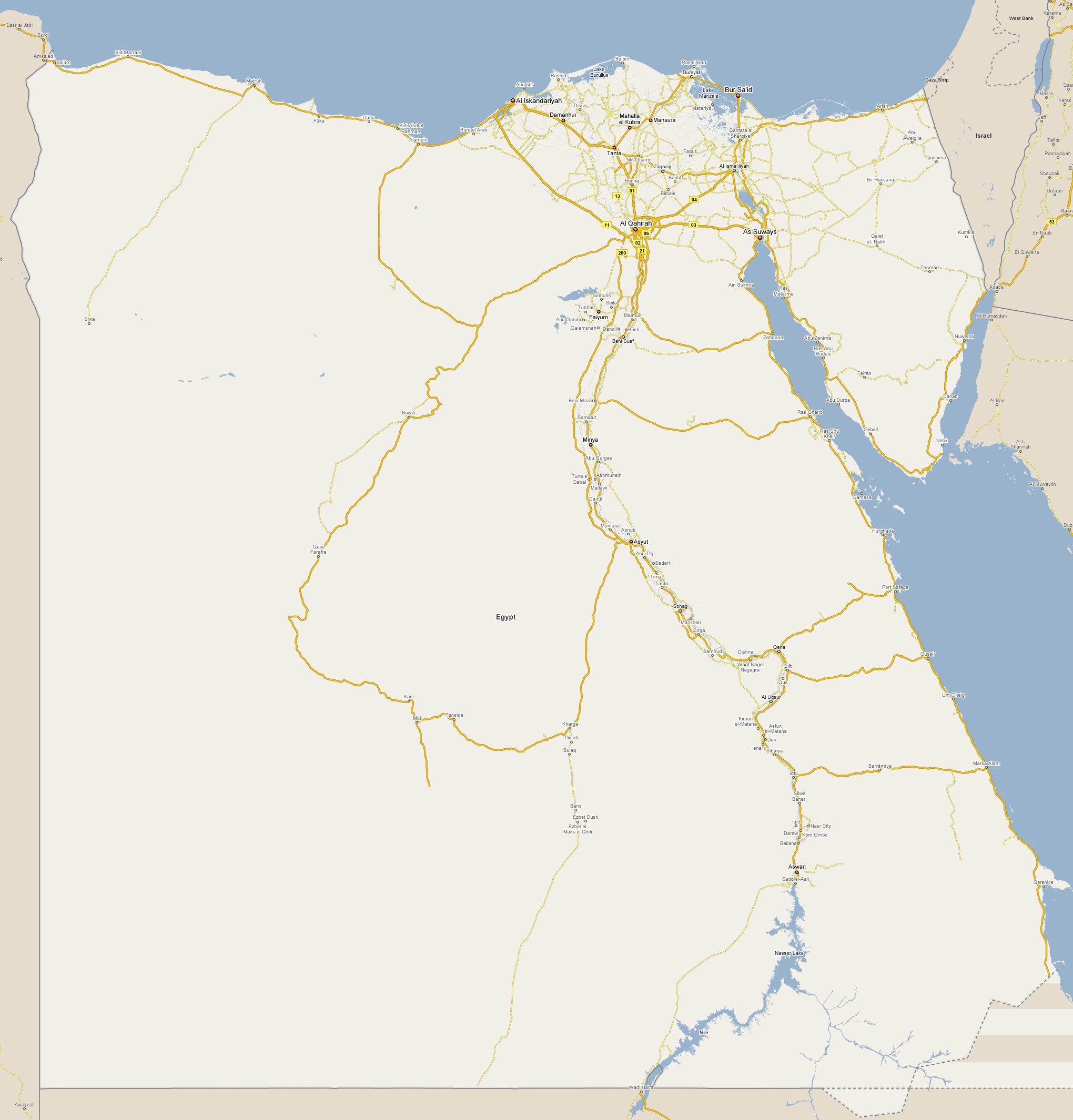 Footiemapcom Egypt Map Of Top Tier Egyptian - Map of egypt country