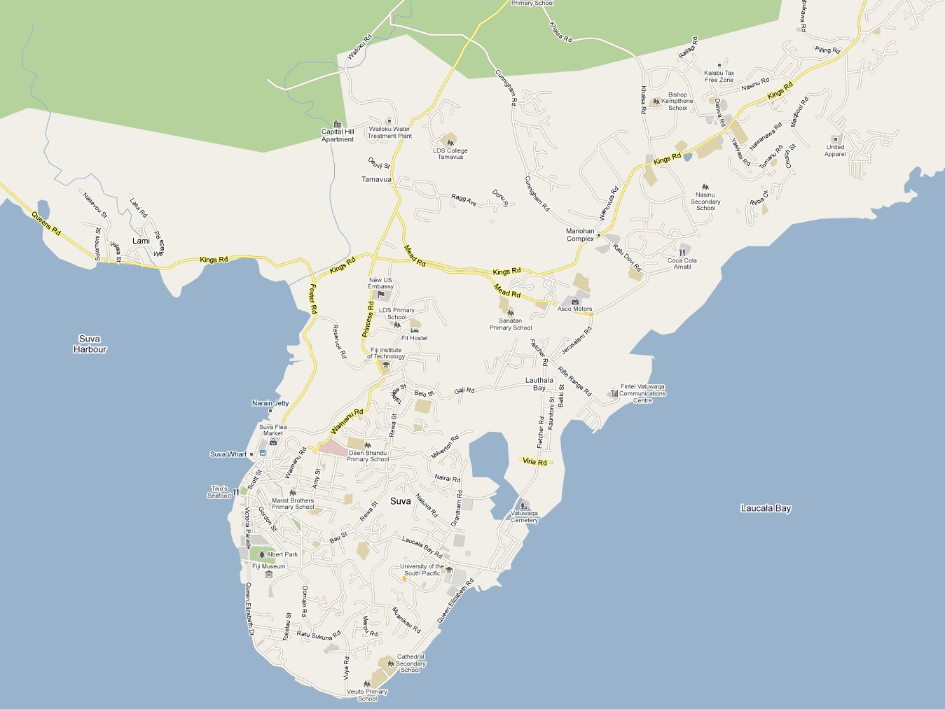 Suva map | Now Shop Time