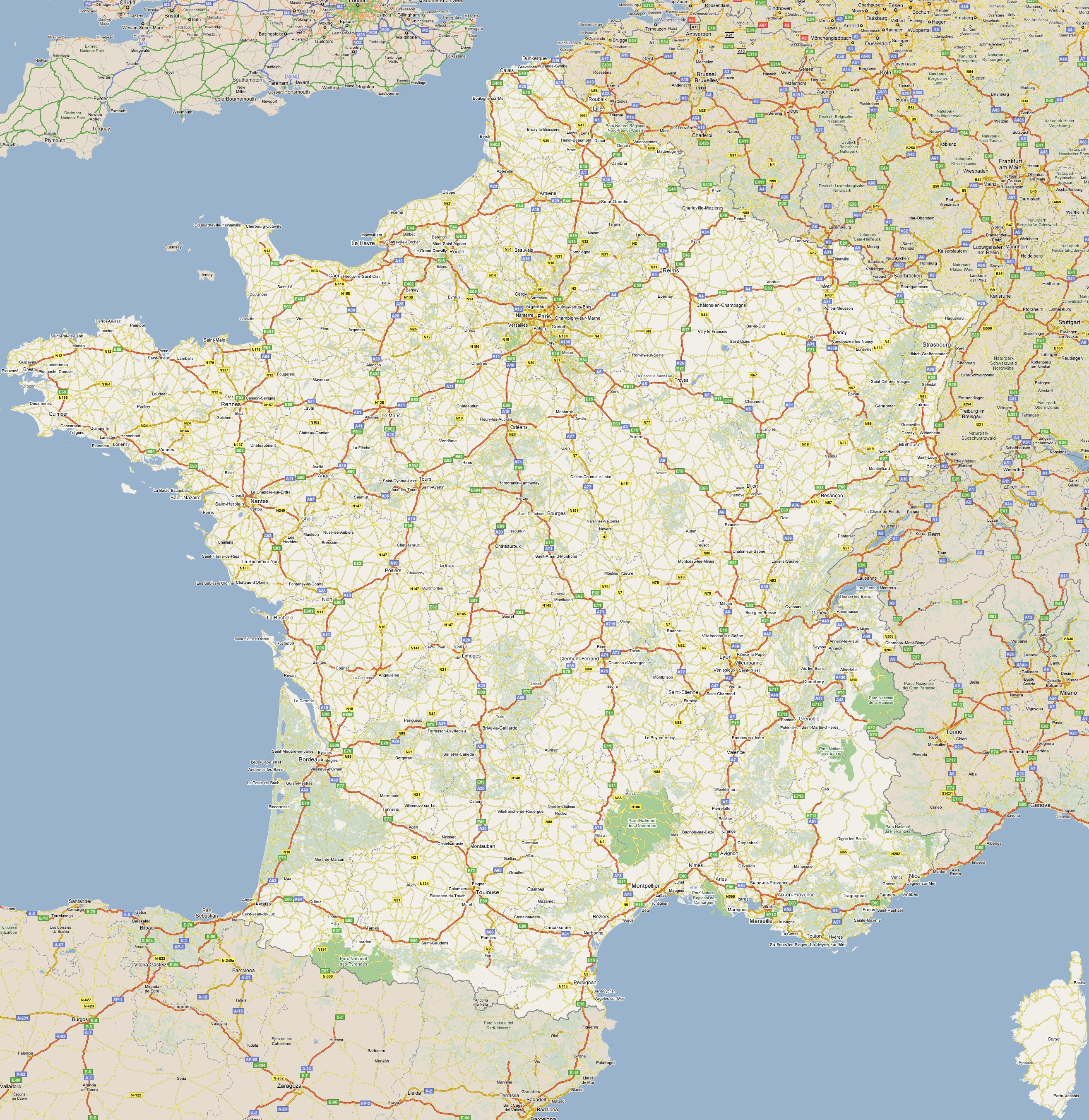 Footiemapcom France 20142015 Map of Top Tier French Football