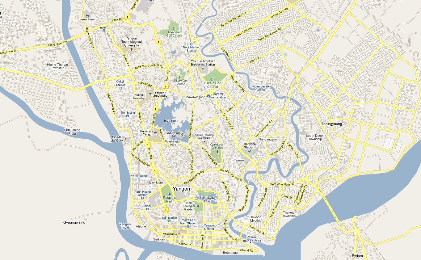 Footiemap Com Myanmar 2011 Yangon Area Football Clubs