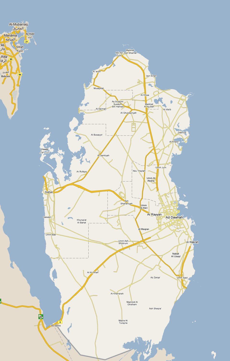 Footiemapcom Qatar 20102011 Map of Top Tier Qatari Football