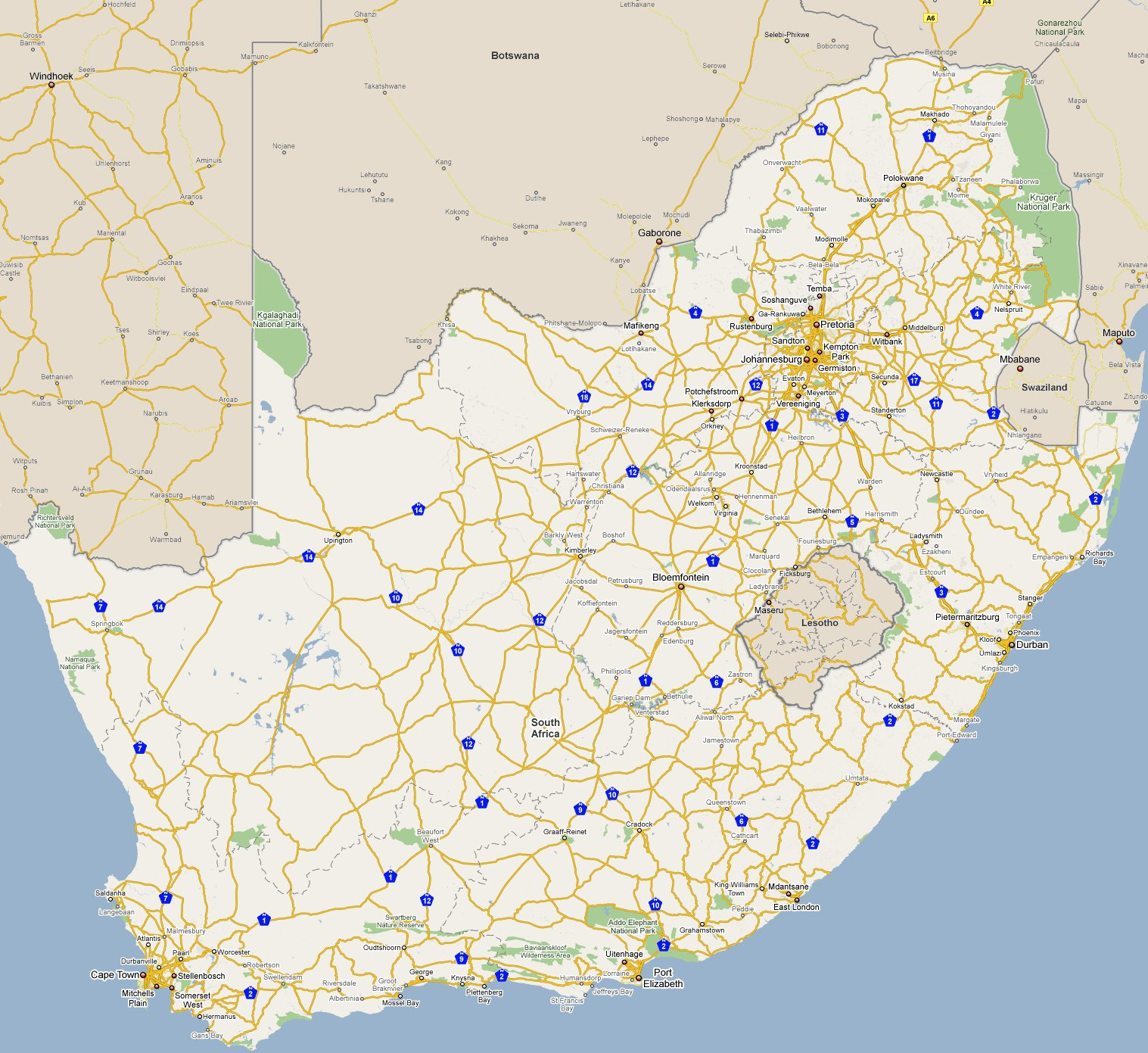 Street maps south africa cinemergente footiemap south africa 2010 2011 map of top tier south african football club stadiums gumiabroncs Images